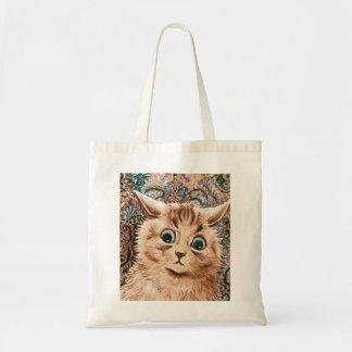 Louis Wain Wallpaper Cat Tote Tote Bags