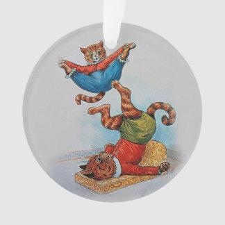 Louis Wain's Acrobatic Cats Vintage Christmas Ornament