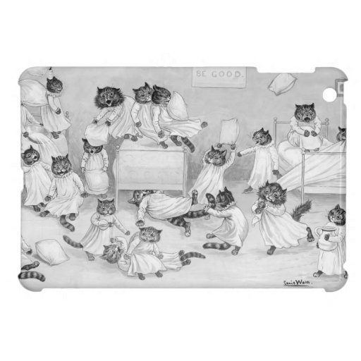 Louis Wain's Cat Dormitory - Cute IpadMini Case Cover For The iPad Mini