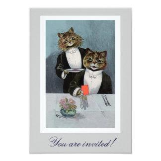 Louis Wain's Cats in Tuxedo Dinner Invitation