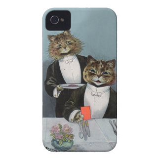 Louis Wain's Cat's Night Out - Cute Vintage Cats Case-Mate iPhone 4 Cases