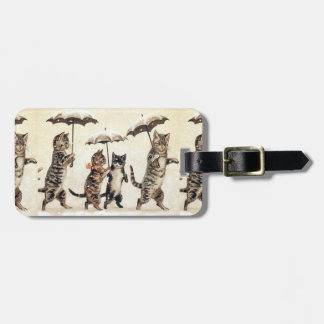 Louis Wain's Cats With Umbrellas Luggage Tag