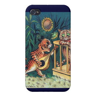 Louis Wain's Valentine Serenade Cover For iPhone 4