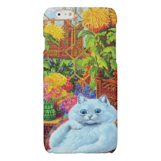 Louis Wain's White Cat in Garden Room Glossy iPhone 6 Case