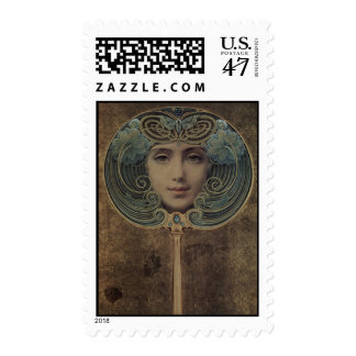 Louis Welden Hawkins Art Nouveau Postage