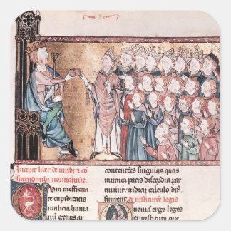 Louis X obstinado dando la carta a Calcomania Cuadradas