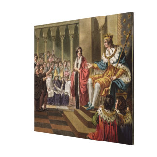 Louis XII (1462-1515) Declared Father of the Peopl Canvas Print