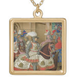 Louis XII (1462-1515) Leaving Alexandria on the 24 Square Pendant Necklace