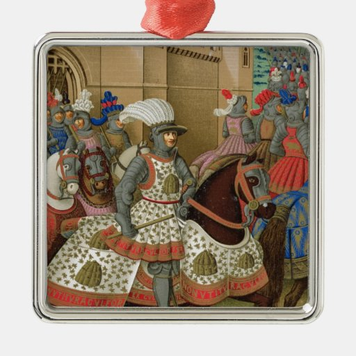 Louis XII (1462-1515) Leaving Alexandria on the 24 Square Metal Christmas Ornament