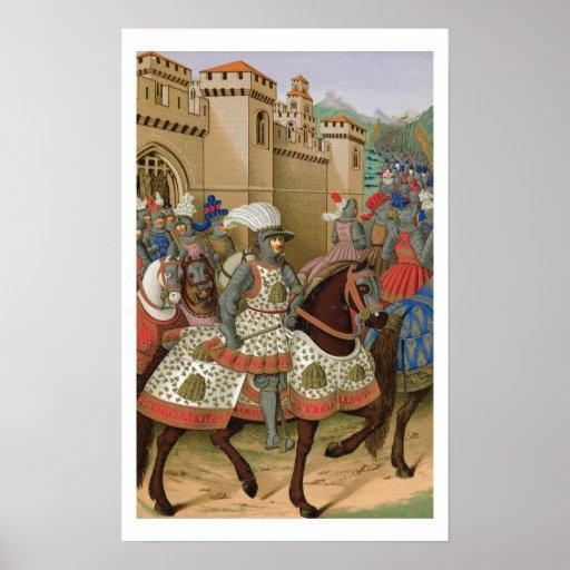 Louis XII (1462-1515) que sale de Alexandría en el Póster