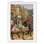 Louis XII (1462-1515) que sale de Alexandría en el Tarjeta De Felicitación