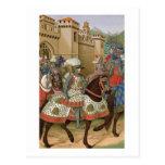 Louis XII (1462-1515) que sale de Alexandría en el Tarjeta Postal