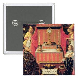 Louis XIII Anne de la infanta de Austria de España Pin Cuadrada 5 Cm