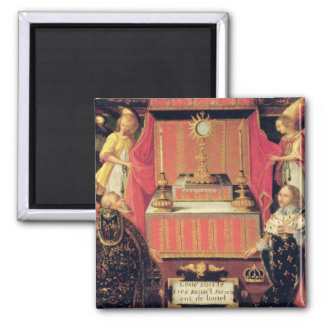Louis XIII  Anne of Austria  Infanta of Spain 2 Inch Square Magnet