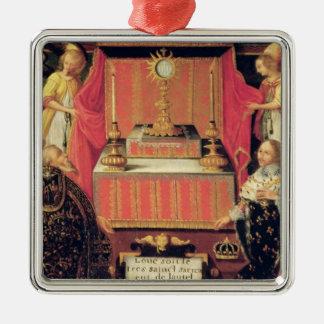 Louis XIII  Anne of Austria  Infanta of Spain Metal Ornament