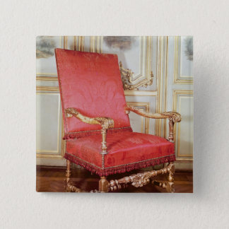 Louis XIII armchair Pinback Button