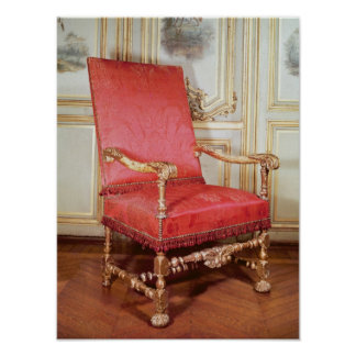 Louis XIII armchair Poster