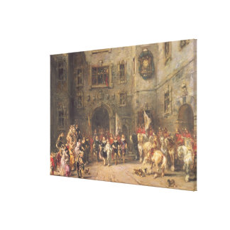 Louis XIII at the chateau of Blois, 1874 (oil on c Canvas Print