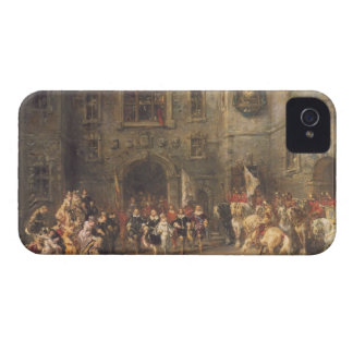 Louis XIII at the chateau of Blois 1874 oil on c iPhone 4 Case-Mate Cases