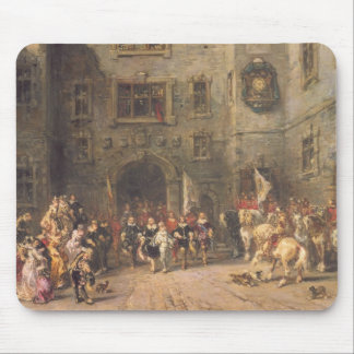 Louis XIII at the chateau of Blois, 1874 (oil on c Mouse Pad