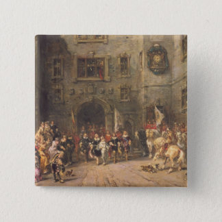 Louis XIII at the chateau of Blois, 1874 (oil on c Pinback Button