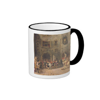 Louis XIII at the chateau of Blois, 1874 (oil on c Ringer Coffee Mug
