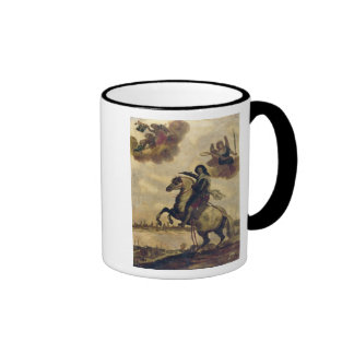 Louis XIII  at the Siege of La Rochelle Ringer Coffee Mug
