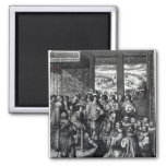Louis XIII  back from the siege of La Rochelle 2 Inch Square Magnet