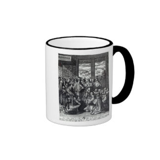 Louis XIII  back from the siege of La Rochelle Ringer Coffee Mug