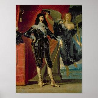 Louis XIII coronado por la victoria, 1635 Póster