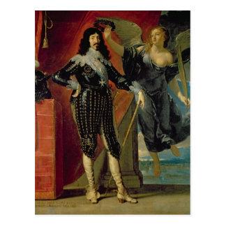 Louis XIII coronado por la victoria, 1635 Tarjeta Postal
