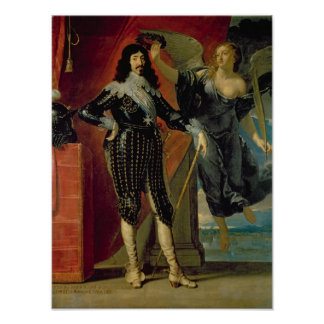 Louis XIII  Crowned by Victory, 1635 Posters