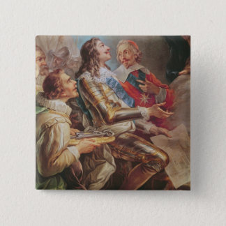 Louis XIII  dedicating the Church of Notre-Dame Pinback Button