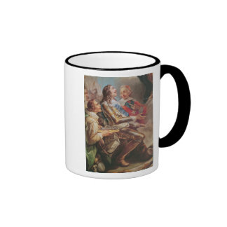 Louis XIII  dedicating the Church of Notre-Dame Ringer Coffee Mug