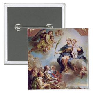 Louis XIII  Dedicating the Church Pinback Button