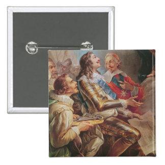 Louis XIII que dedica la iglesia de Notre-Dame Pin Cuadrada 5 Cm