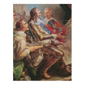 Louis XIII que dedica la iglesia de Notre-Dame Tarjetas Postales