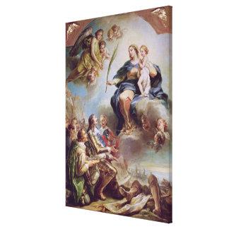 Louis XIII que dedica la iglesia Lona Envuelta Para Galerias