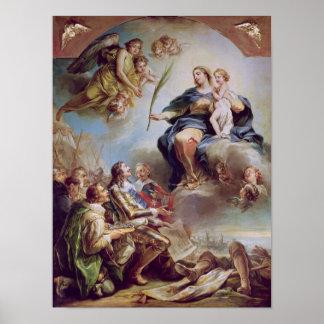 Louis XIII que dedica la iglesia Póster