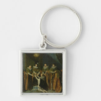 Louis XIII  Receiving Henri d'Orleans Keychain