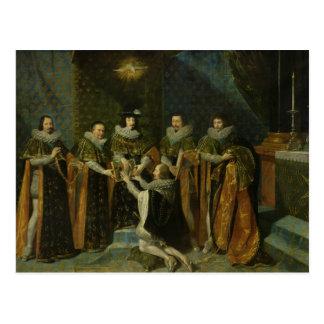 Louis XIII  Receiving Henri d'Orleans Postcard