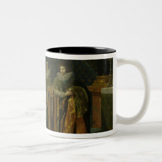 Louis XIII  Receiving Henri d'Orleans Two-Tone Coffee Mug