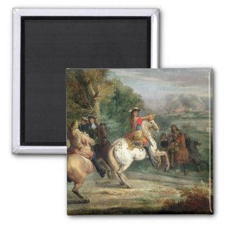 Louis XIV (1638-1715) que supervisa el cerco de un Imán Cuadrado