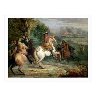 Louis XIV (1638-1715) que supervisa el cerco de un Postales
