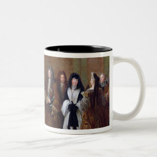 Louis XIV acoge con satisfacción al elector de Saj Tazas De Café