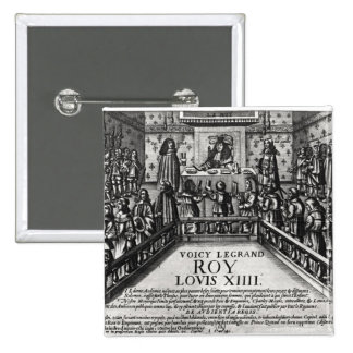 Louis XIV  administering justice 2 Inch Square Button
