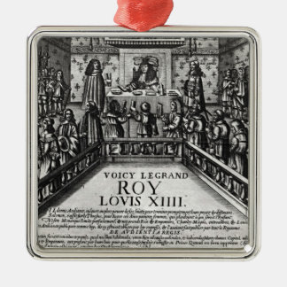 Louis XIV  administering justice Metal Ornament