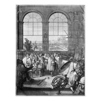 Louis XIV  and his Entourage Visiting Postcard