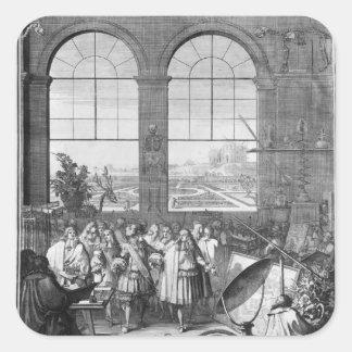 Louis XIV  and his Entourage Visiting Sticker