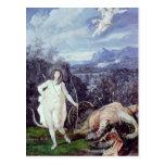 Louis XIV  as Apollo, Slayer of Python Postcard